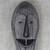 African wood mask, 'Happy Woman' - Hand-Carved Smiling Woman Sese Wood African Wall Mask (image 2b) thumbail