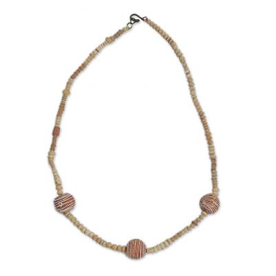 Terracotta beaded necklace,