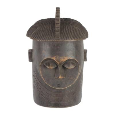 Baga Style West African Wood Mask from Ghana