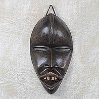 African wood mask, 'Dan Passport' - Dan Style Wood Mask Hand Carved from Sese Wood