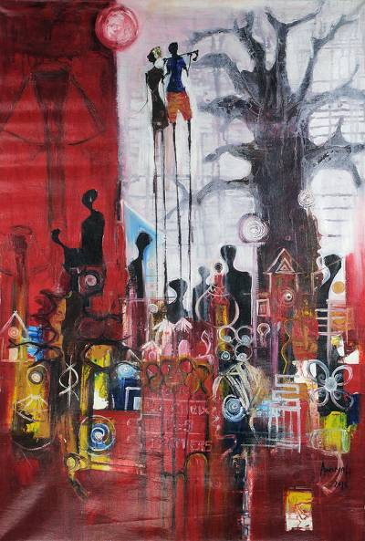 'Day Break' - Signed Original Abstract African Acrylic Painting