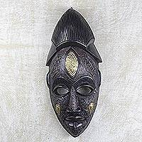 African wood mask, 'Odwira'