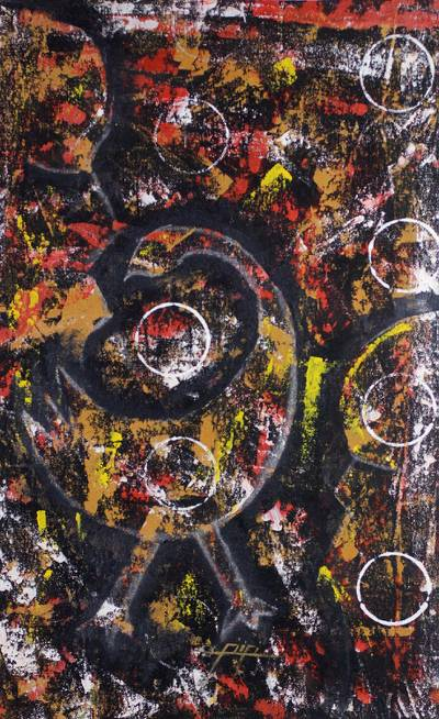 sankofa adinkra symbol original acrylic painting sankofa novica