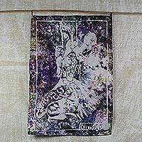 Batik cotton wall hanging, 'Good Legacy' - Cotton Batik Multi-Colored African Legacy Wall Hanging