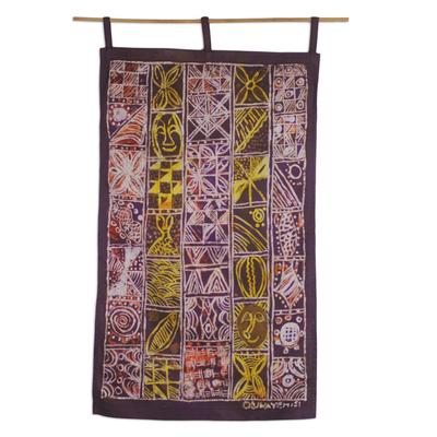 African Heritage Cotton Batik Multi-Colored Wall Hanging