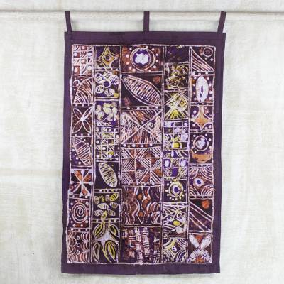 Batik cotton wall hanging, Great Achiever
