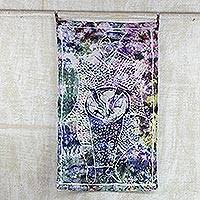 Batik cotton wall hanging, 'Folk Music' - Celebration of Music Multicolor Cotton Batik Wall Hanging