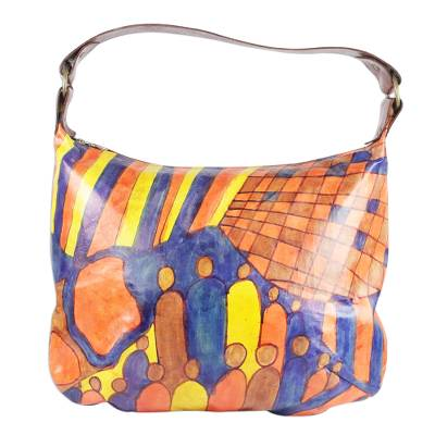 Handcrafted Leather Tote in Espresso from Ghana