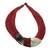 Leather and bone statement necklace, 'Ghanaian Nooma' - Ghanaian Red Leather and Bone Statement Cord Necklace thumbail