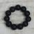 Ebony wood beaded stretch bracelet, 'Meditative Style' - Ebony Wood Beaded Stretch Bracelet Crafted in Ghana (image 2) thumbail