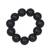 Ebony wood beaded stretch bracelet, 'Meditative Style' - Ebony Wood Beaded Stretch Bracelet Crafted in Ghana thumbail