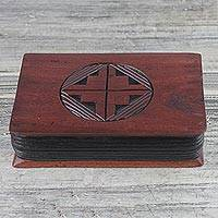 Wood oware game, 'Grace Oware' - African Sese Wood Oware Board Game from Ghana