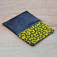 Cotton and faux leather tablet sleeve, 'Versatility on the Go' - Cotton and Faux Leather Tablet Sleeve from West Africa