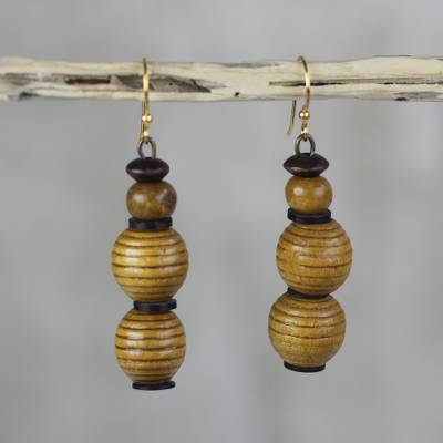 Sese Wood And Recycled Plastic Earrings From Ghana Good Nature