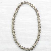 Wood and recycled plastic beaded necklace, 'Neutral Luxury' - Neutral Luxury Sese Wood and Recycled Plastic Necklace