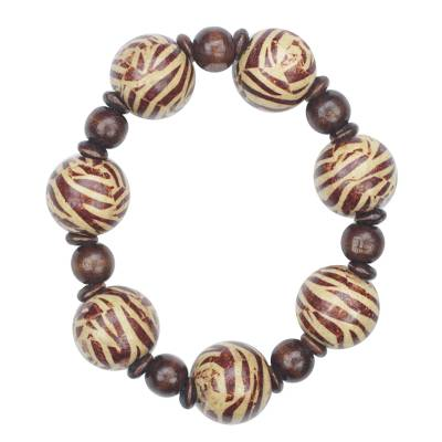 Sese wood beaded bracelet,