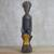 Wood sculpture, 'Regal Mother' - Hand Carved Sese Wood Regal Sitting Mother Sculpture thumbail