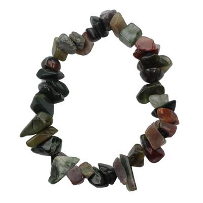 Quartz Chip Stone Beaded Stretch Bracelet