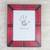 Leather photo frame, 'Passionate Memories' (8x10) - Handcrafted Leather Photo Frame in Red from Ghana (8x10) thumbail