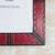 Leather photo frame, 'Passionate Memories' (8x10) - Handcrafted Leather Photo Frame in Red from Ghana (8x10) (image 2b) thumbail