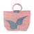 Recycled plastic tote handbag, 'Wondrous Flight' - Orange Butterfly Flight Recycled Plastic Tote Handbag (image 2a) thumbail