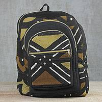 Jute backpack, 'Handy Traveler' - Handcrafted Jute Backpack from Ghana