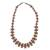 Wood and recycled plastic beaded necklace, 'Adeshi Brown' - Wood and Recycled Plastic Beaded Necklace in Brown (image 2a) thumbail