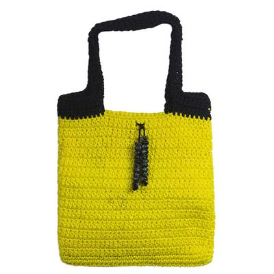 Crocheted Handbag in Marigold from Ghana