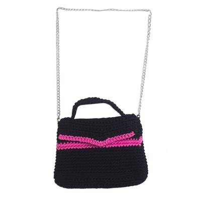 Crocheted Sling in Black from Ghana