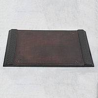 Leather writing board, 'Master Linguist' - Handcrafted Leather Writing Board from Ghana
