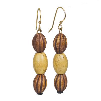 Recycled plastic dangle earrings,,