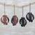 Ebony wood ornaments, 'Akan Belief' (set of 4) - Handcrafted Ebony Wood Gye Nyame Ornaments (Set of 4) (image 2) thumbail