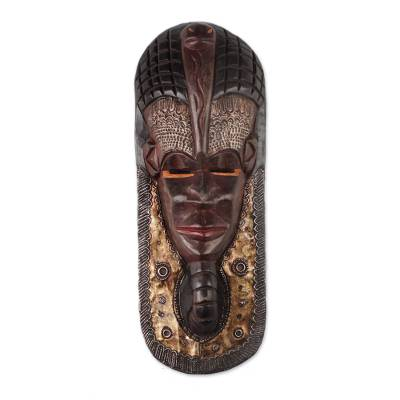 African Egyptian Pharaoh Mask Crafted in Ghana