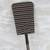 Cotton and rattan fan, 'Soro Nipa Stripes' - Striped Cotton and Rattan Long Fan from Ghana (image 2c) thumbail
