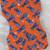 Cotton and wood fan, 'Blue Bundles' - Blue and Orange Cotton and Wood Long Fan from Ghana (image 2c) thumbail