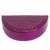 Leather jewelry box, 'Fuchsia Semicircle' - Semicircular Leather Jewelry Box in Fuchsia from Ghana thumbail