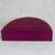 Leather jewelry box, 'Fuchsia Semicircle' - Semicircular Leather Jewelry Box in Fuchsia from Ghana (image 2b) thumbail