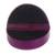 Leather jewelry box, 'Fuchsia Semicircle' - Semicircular Leather Jewelry Box in Fuchsia from Ghana (image 2d) thumbail