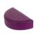 Leather jewelry box, 'Fuchsia Semicircle' - Semicircular Leather Jewelry Box in Fuchsia from Ghana (image 2e) thumbail