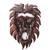 Wood wall sculpture, 'King Lion' - Hand-Carved African Wood Lion Wall Sculpture from Ghana (image 2a) thumbail