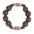 Wood and recycled plastic beaded stretch bracelet, 'Exornam' - Sese Wood and Plastic Beaded Stretch Bracelet from Ghana thumbail