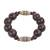 Wood and recycled plastic beaded stretch bracelet, 'Exornam' - Sese Wood and Plastic Beaded Stretch Bracelet from Ghana (image 2c) thumbail