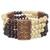Wood and recycled plastic beaded stretch bracelet, 'Newfound Love' - Wood and Recycled Plastic Beaded Stretch Bracelet from Ghana thumbail
