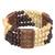 Wood and recycled plastic beaded stretch bracelet, 'Newfound Love' - Wood and Recycled Plastic Beaded Stretch Bracelet from Ghana (image 2c) thumbail