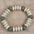 Wood and recycled plastic beaded stretch bracelet, 'African Innocence' - Wood and Recycled Plastic Beaded Bracelet from Ghana (image 2) thumbail