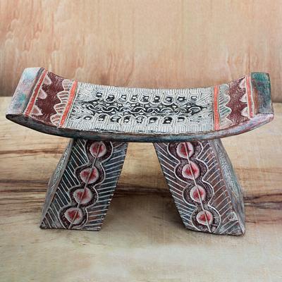 Remarkable Sese Wood And Aluminum Decorative Stool Made In Ghana Lovely Araba Creativecarmelina Interior Chair Design Creativecarmelinacom