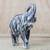 Wood sculpture, 'Whitewashed Elephant' - Whitewashed Sese Wood Elephant Sculpture from Ghana (image 2b) thumbail