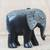 Wood sculpture, 'Gye Nyame Elephant' - Wood Aluminum and Brass Elephant Sculpture from Ghana (image 2) thumbail