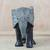 Wood sculpture, 'Gye Nyame Elephant' - Wood Aluminum and Brass Elephant Sculpture from Ghana (image 2b) thumbail