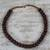 Recycled plastic beaded necklace, 'Peaceful Calm' - Eco Friendly Recycled Plastic Dark Brown Beaded Necklace thumbail
